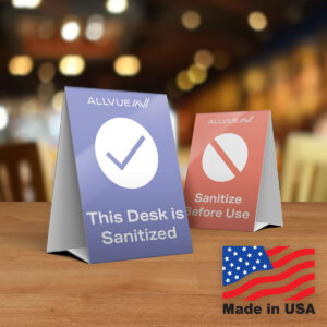 This Desk is Sanitized / Please Sanitize This Desk (US Version) - Made in USA